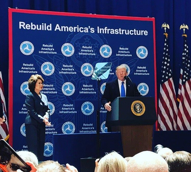 Trump Touts Plans to Improve Infrastructure