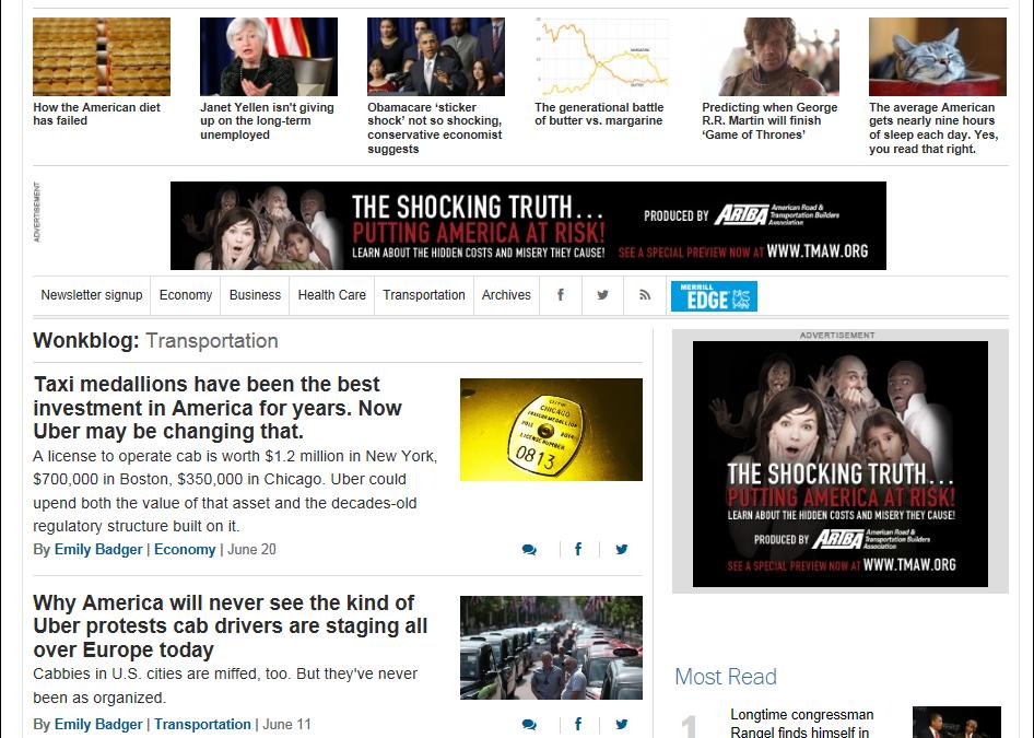 "ARTBA ""Shocking Truth"" Campaign Creates D.C. Buzz"