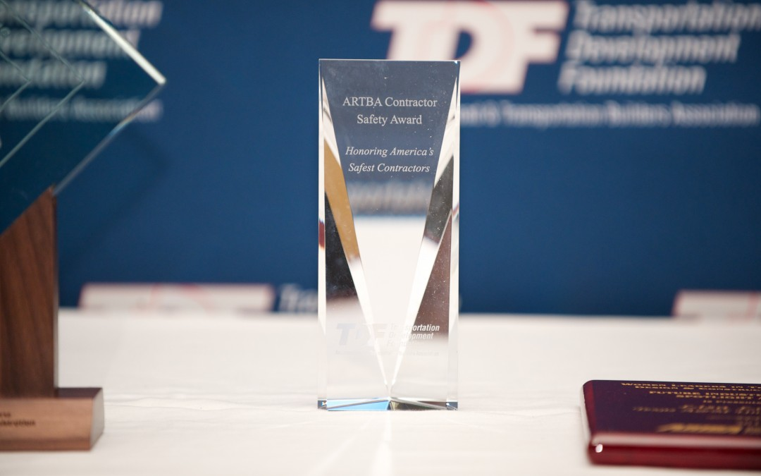 Ohio, Texas, and Utah Firms Receive ARTBA National Contractor Safety Awards
