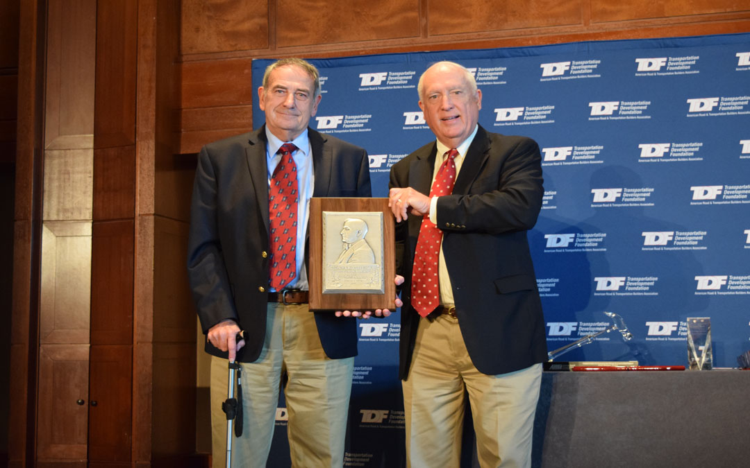 Former ARTBA Chairman Charles F. Potts Receives George S. Bartlett Award