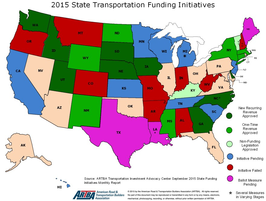 Center Release Updates on State Transportation Funding Legislation