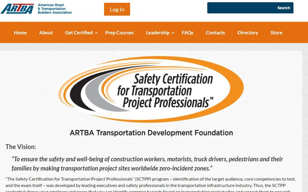 ARTBA Launches Online Learning Center to Prep for Certification Exam