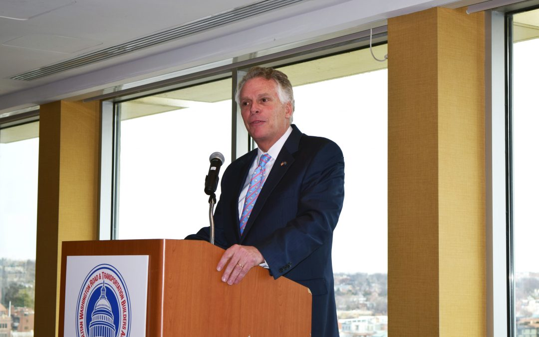 Virginia Gov. McAuliffe Talks Transportation Infrastructure Transformation