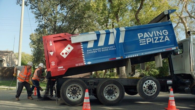 Pizza Chain Provides Pothole Repair Grants