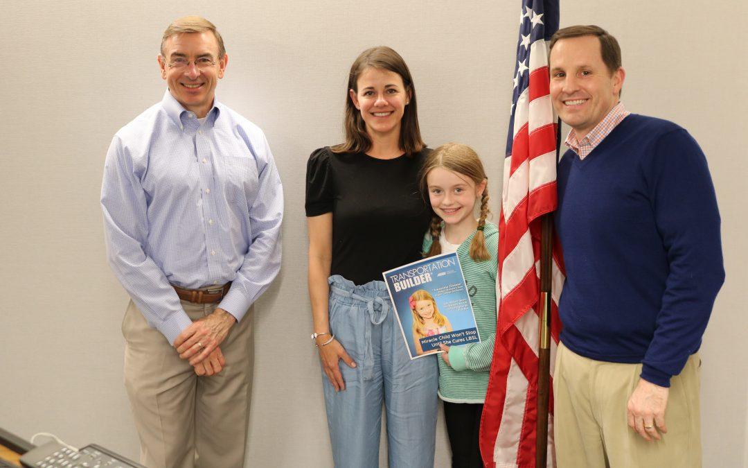 Daughter of Former ARTBA Employee Battling Rare Illness Visits D.C. Office