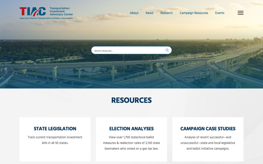 Refreshed Transportation Investment Advocacy Center™ Website Helps Advocates Win Funding Campaigns