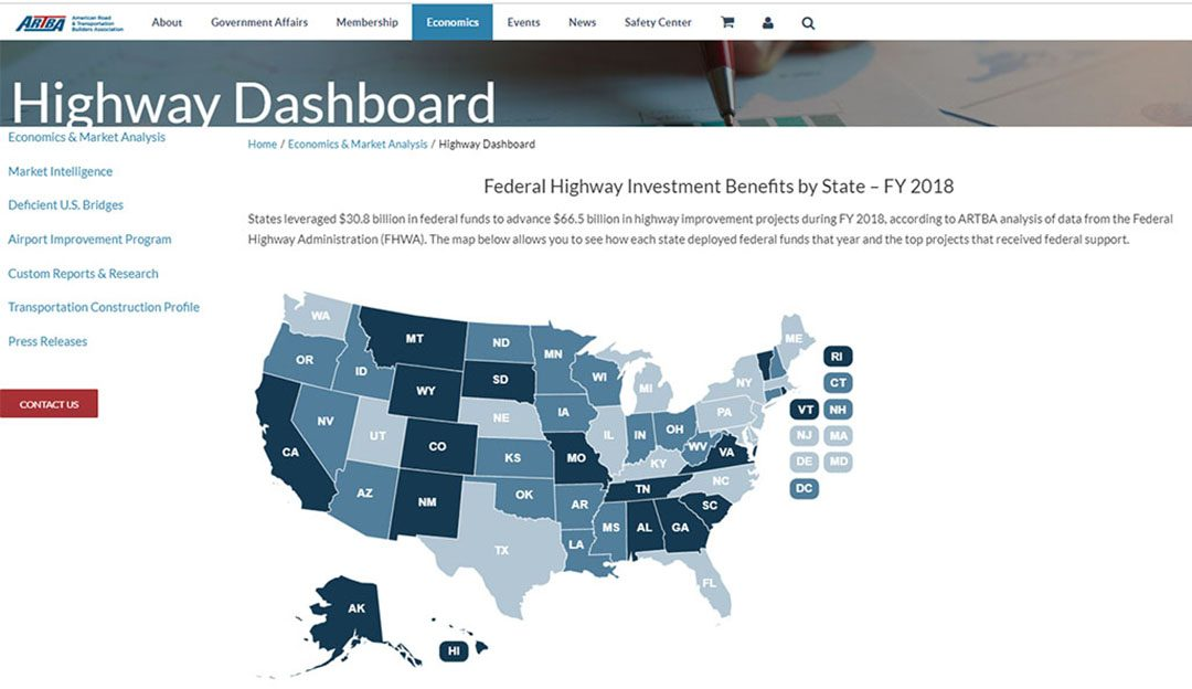New Dashboard Highlights Benefits of Highway Investment