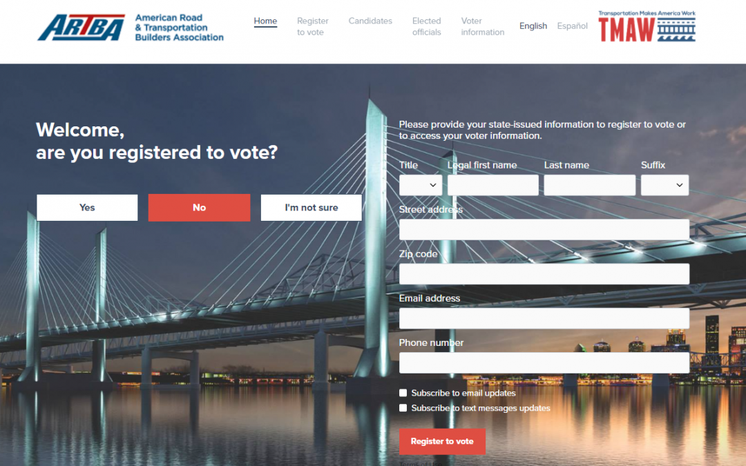ARTBA Launches New Voter Resource for Members